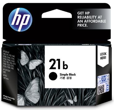 HP 21B Simple Ink Cartridge, Black
