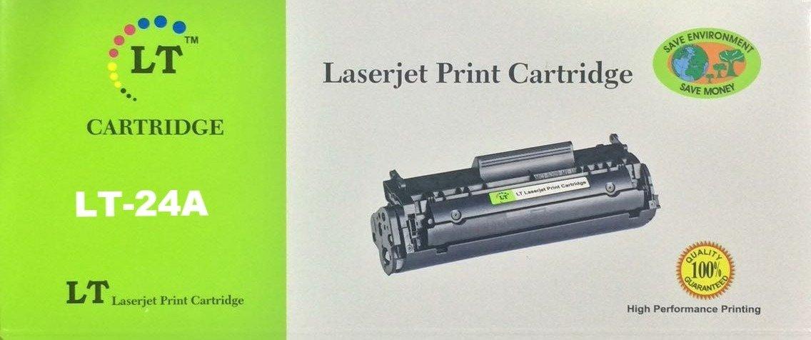 LT 24A Toner Cartridge, Black, Q2624A