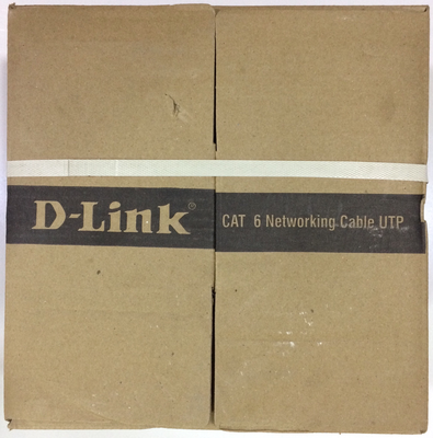 D-Link 100mtr Cat 6 Networking Cable UTP Outdoor, Grey