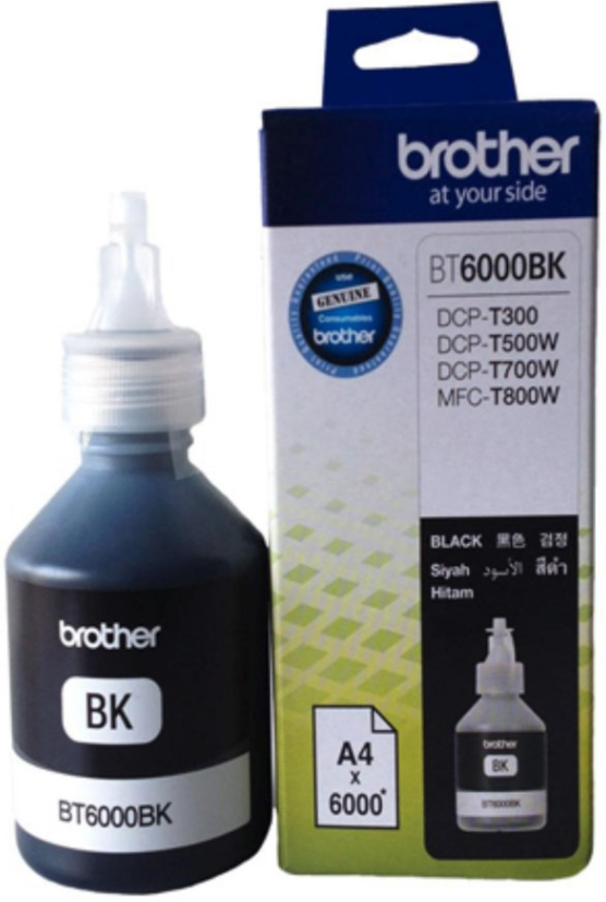 Brother ink Bottle, BT6000BK, Black