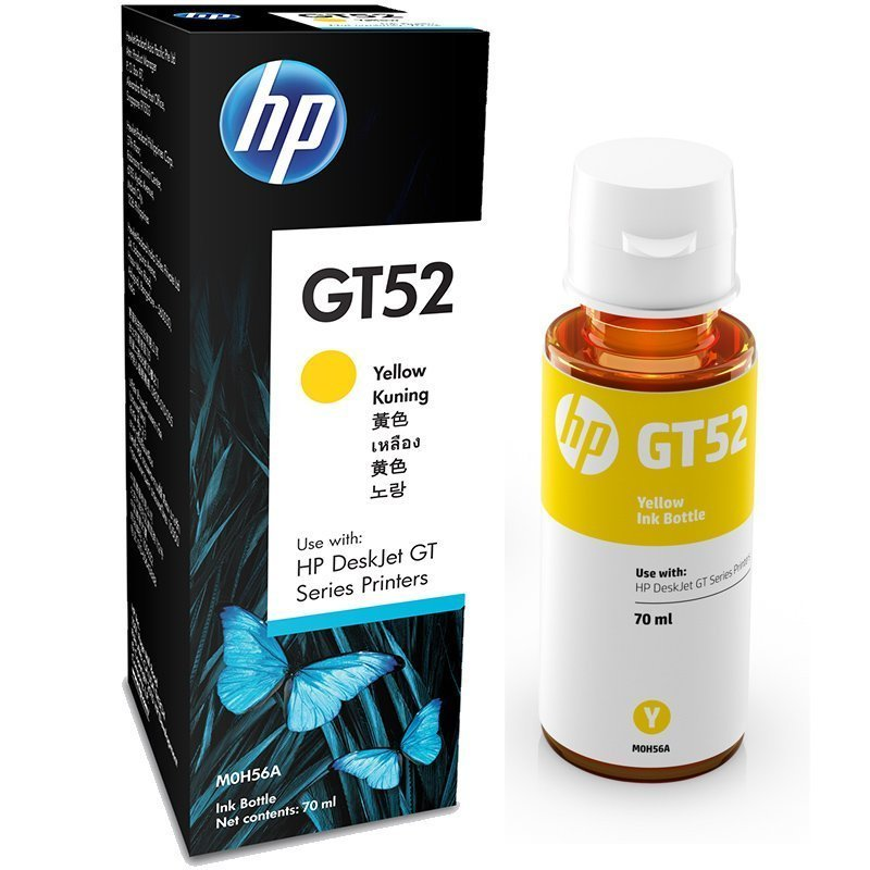 HP ink Bottle, GT 52, Yellow, 70ml