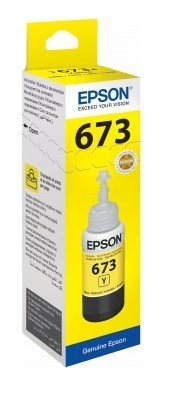 Epson ink Bottle, 673, Yellow, for l800, l805, l810, l850, l1800