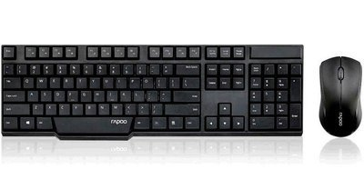 Rapoo 1830 Wireless Keyboard Mouse, Black