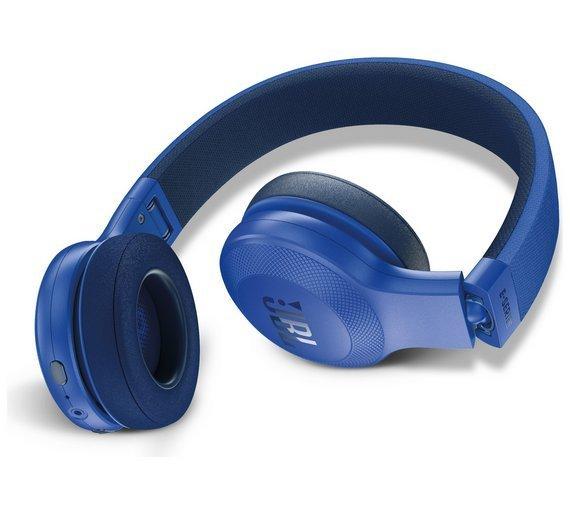 JBL E45BT Wireless Bluetooth On-Ear Headphones with Mic, Blue
