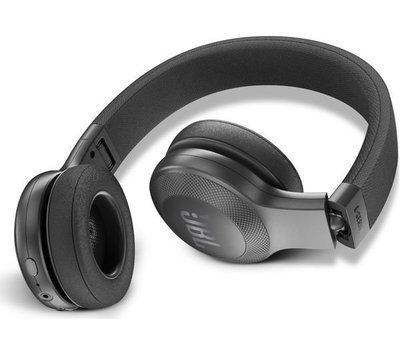 JBL E45BT Wireless Bluetooth On-Ear Headphones with Mic, Black