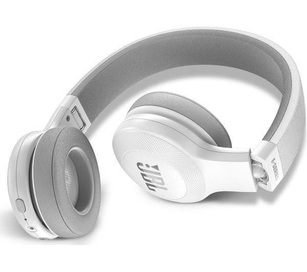 JBL E45BT Wireless Bluetooth On-Ear Headphones with Mic, White