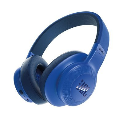 JBL E55BT Bluetooth Over-Ear Headphones with Mic, Blue