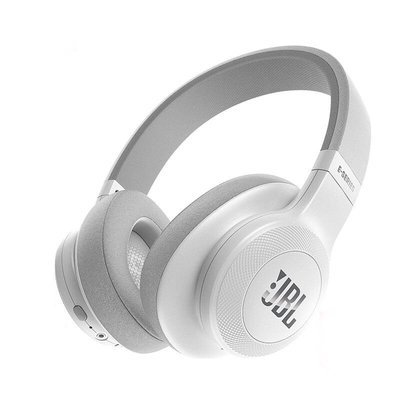 JBL E55BT Bluetooth Over-Ear Headphones with Mic, White
