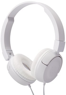 JBL T450 On-Ear Headphones with Mic, White