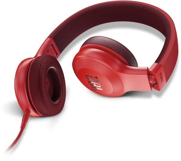 JBL E35 On-Ear Headphones with Mic, Red