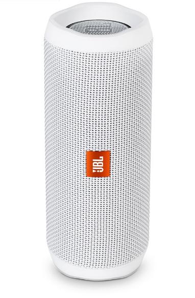 JBL Flip 4 Waterproof Portable Bluetooth Speakers, White