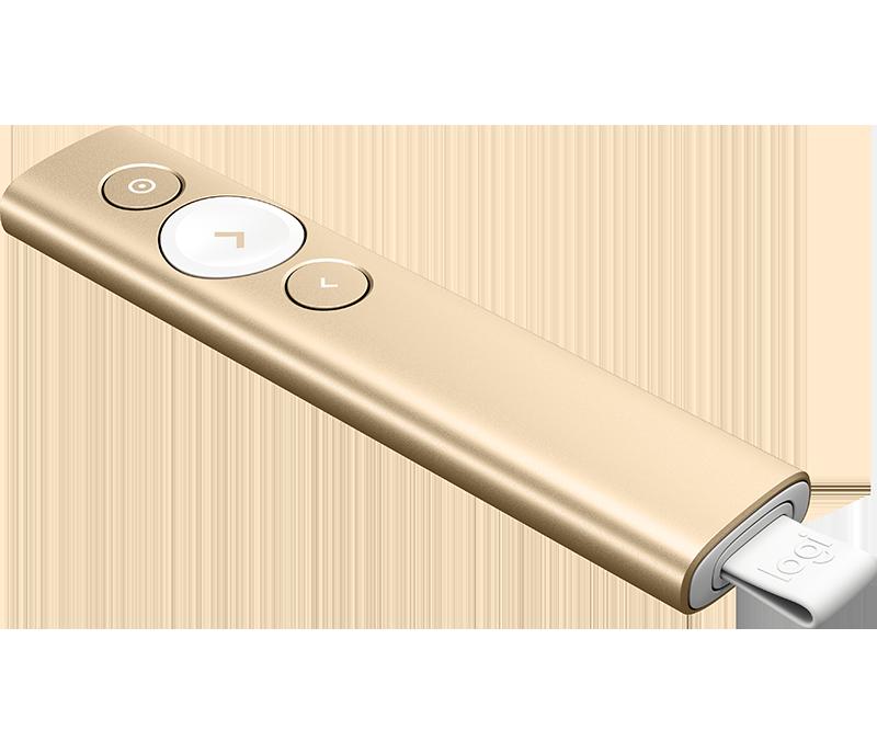 Logitech Spotlight Advanced Presentation Remote, Gold