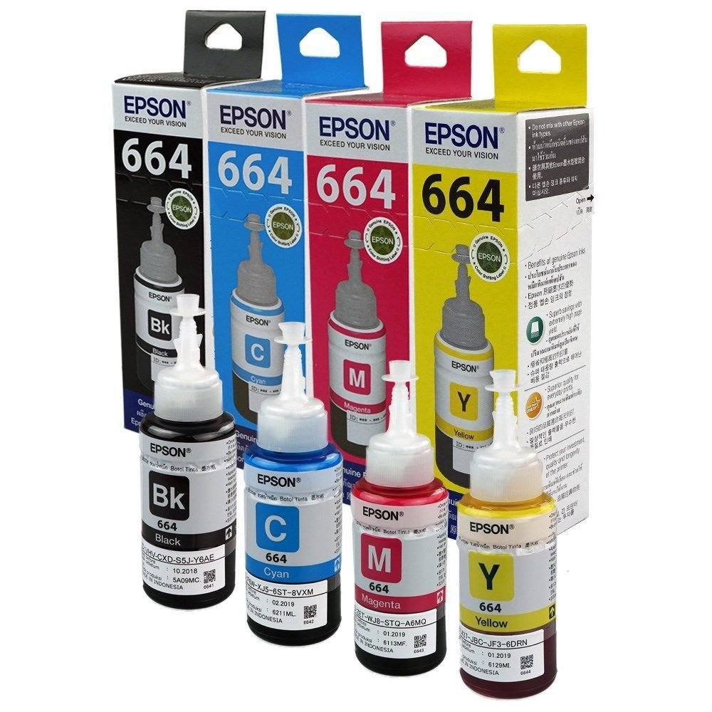 Epson 664 ink Bottle, For l385, l405, l455, l485, l550, l565, l1300