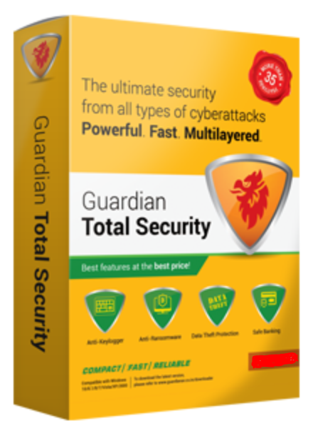 5 User, 1 Year, Guardian Total Security