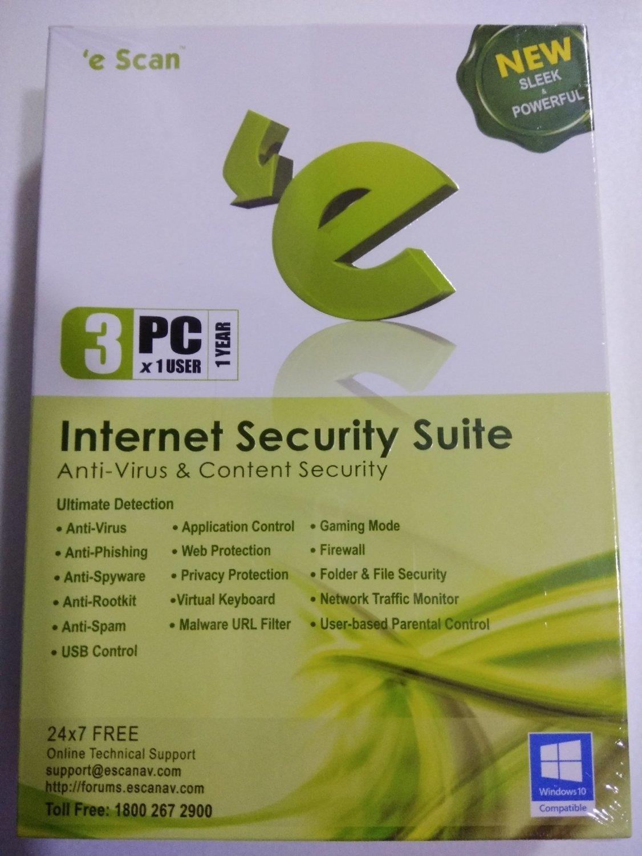 3 User, 1 Year, eScan Internet Security, V-11x