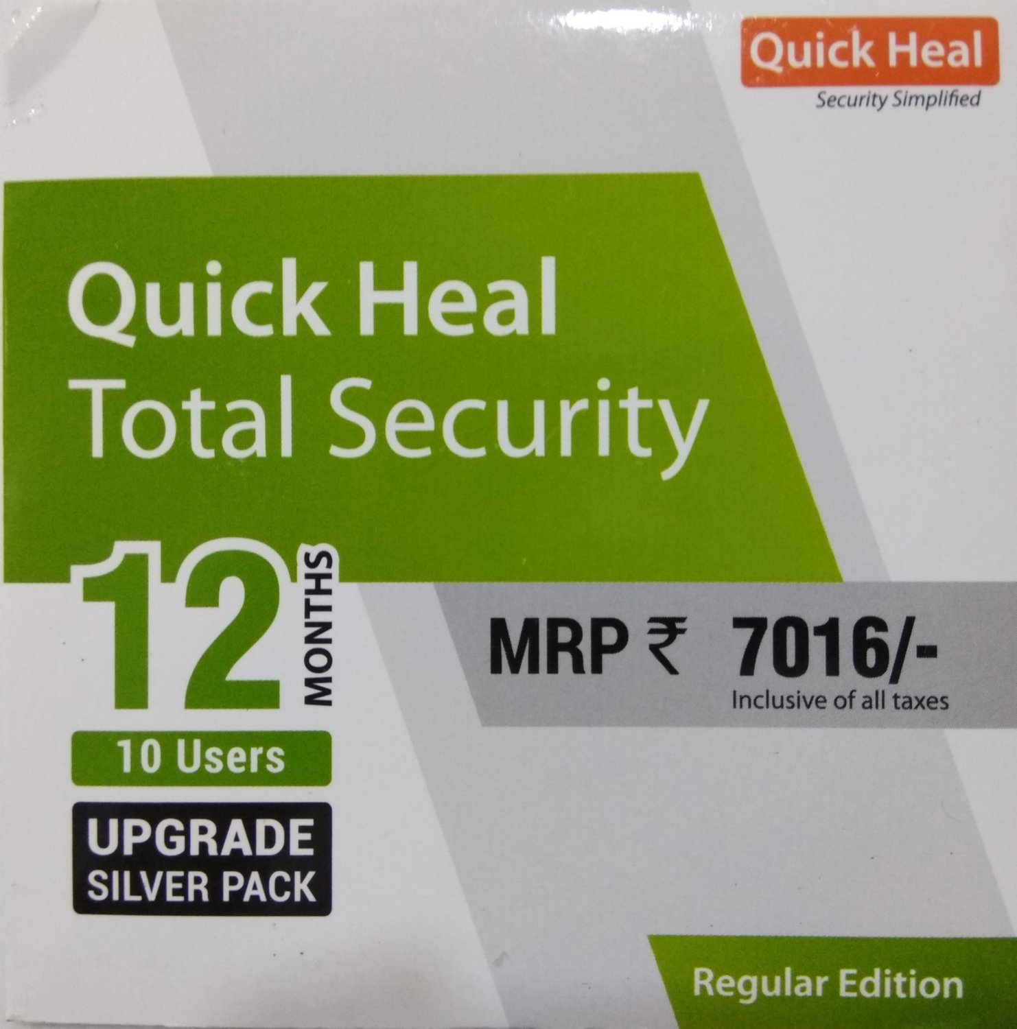 Renewal, 10 User, 1 Year, Quick Heal Total Security