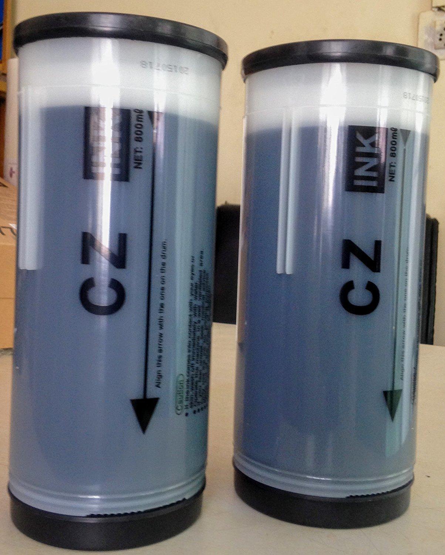 for in Riso Series CZ Digital Duplicator Blue Ink, 2-Pack