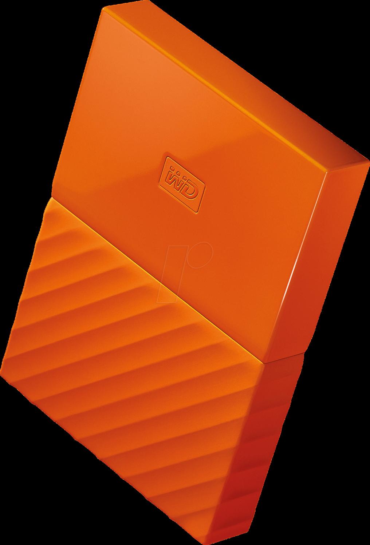 WD 4TB My Passport USB External Hard drive, Orange