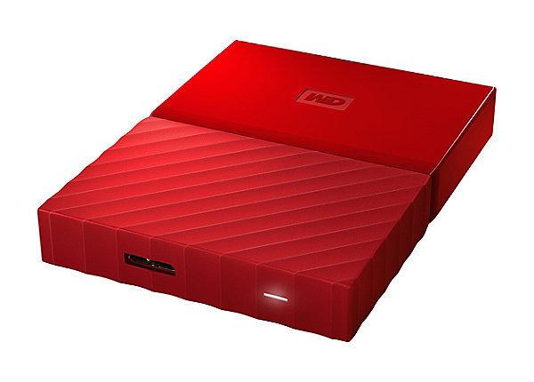 WD 4TB My Passport USB External Hard drive, Red