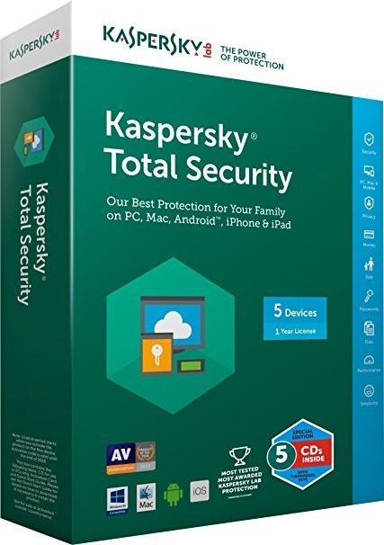 5 User, 1 Year, Kaspersky Total Security