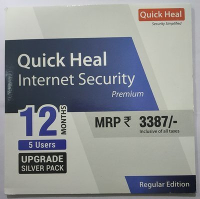 Upgrade Pack, 5pc, 1year, Quick Heal Internet Security