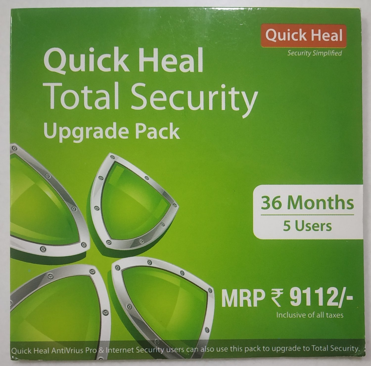 Renewal, 5 User, 3 Year, Quick Heal Total Security