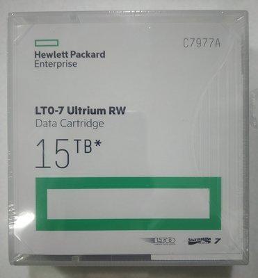 HP LTO 7 Tape Ultrium 15TB RW Data Cartridge, C7977A