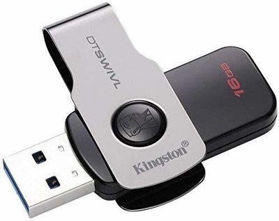 Kingston 16GB Pen Drive, USB 3.1/DTSWIVL