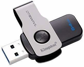 Kingston 64GB Pen Drive, USB 3.1/DTSWIVL