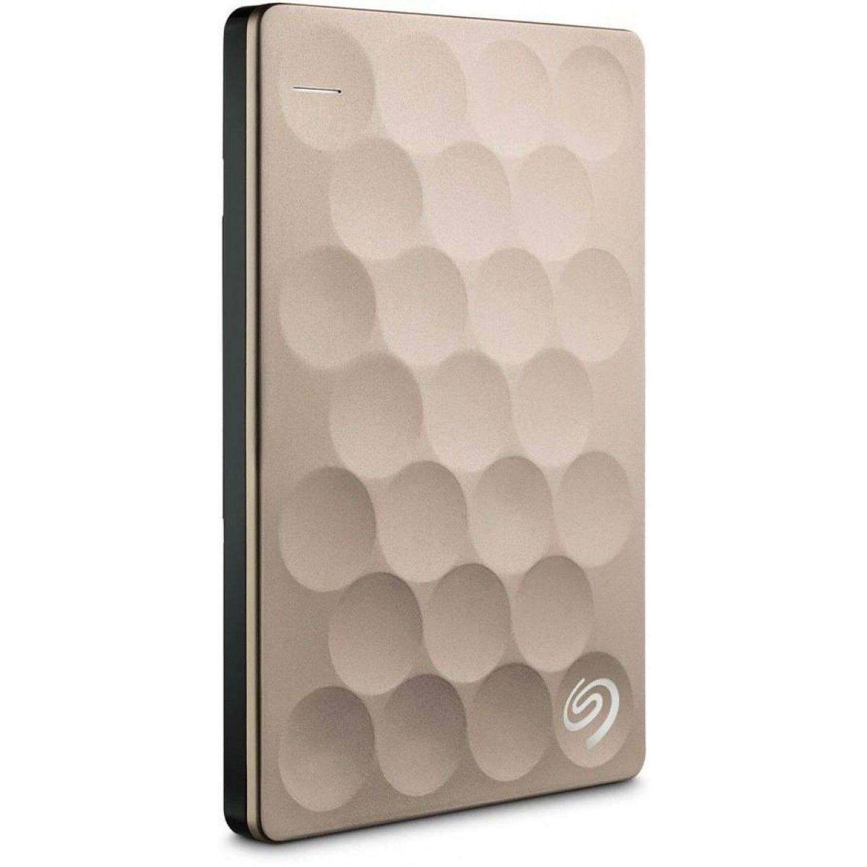 Seagate 2TB Platinum external hard disk, Gold
