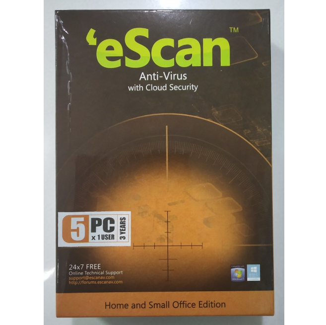 5 User, 3 Year, eScan Antivirus, V-14.x