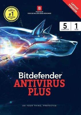 5 User, 1 Year, Bitdefender Antivirus, Plus