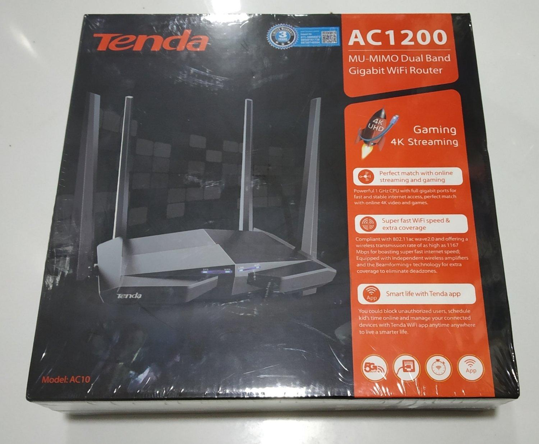 Tenda AC10 Dual Band AC1200 Gigabit Wi-Fi Router