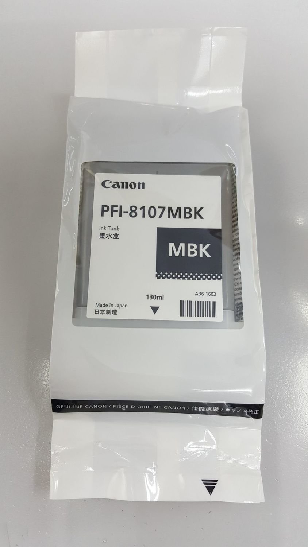 Canon PFI-8107MBK Ink Cartridge, Matte Black, 130ml