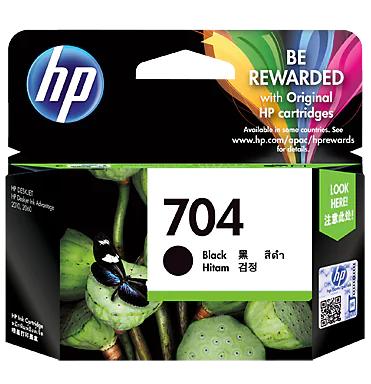 HP 704 Ink Cartridge, Black