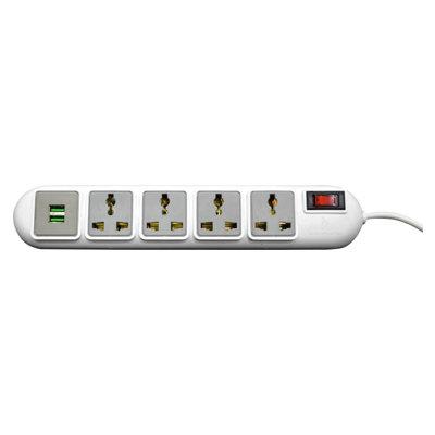 Rapoo Ideakard Smart Strip with 2 USB, 4 Socket, SP42U