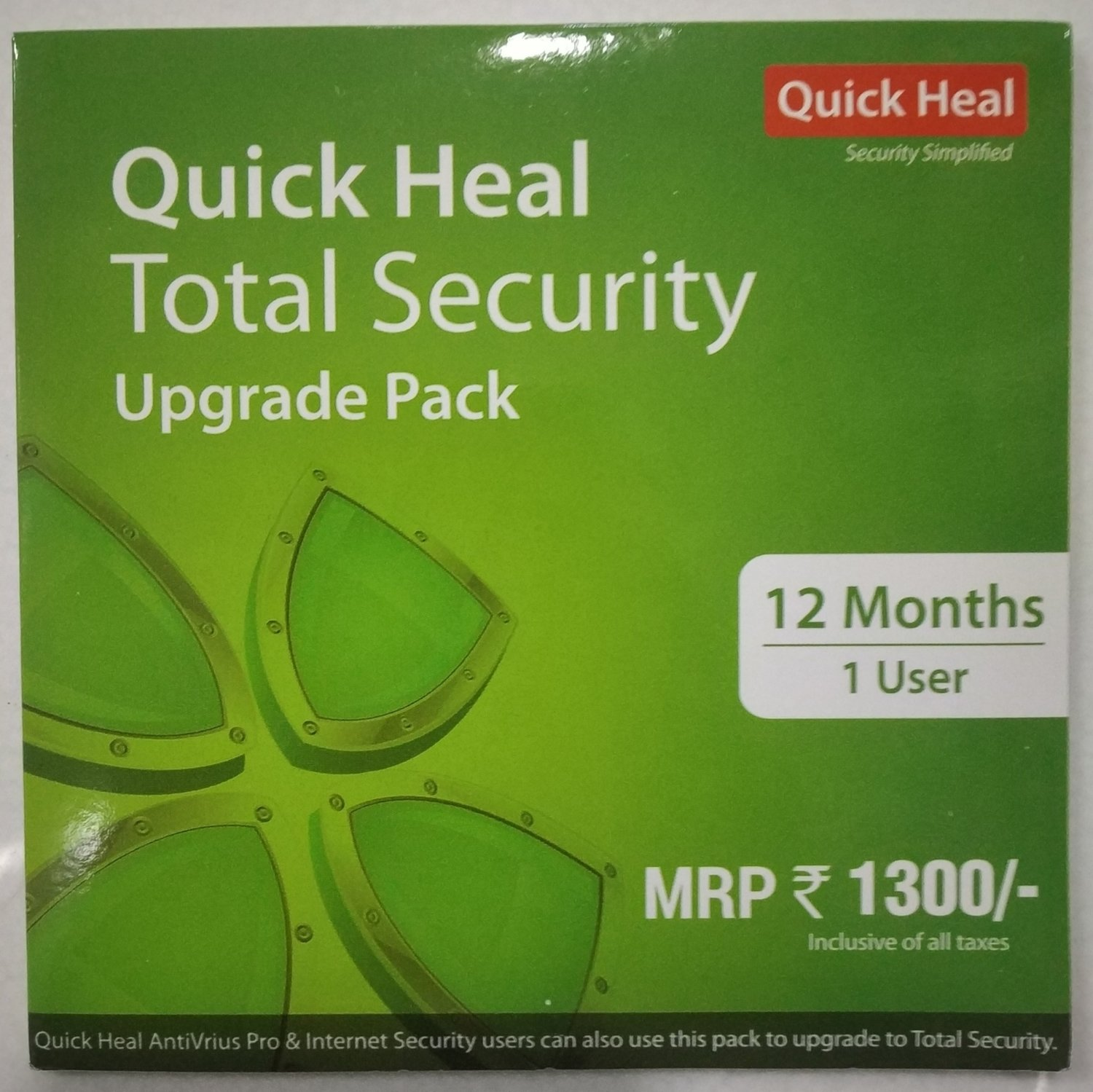 Renewal, 1 User, 1 Year, Quick Heal Total Security