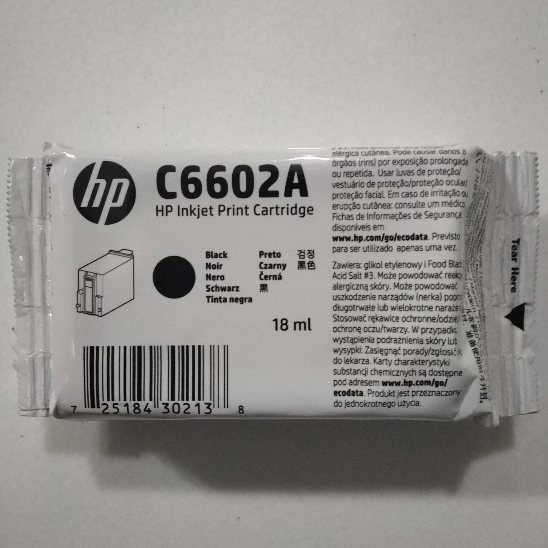 HP C6602A Ink Cartridge, Black