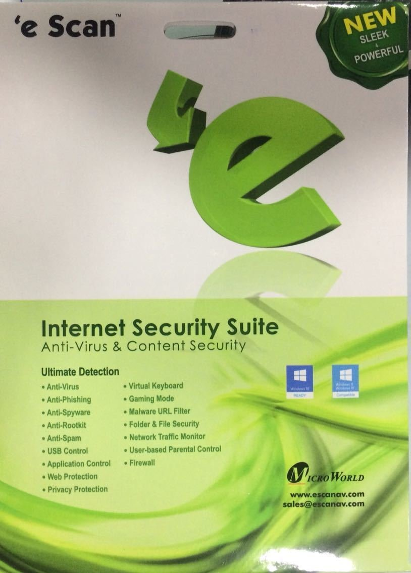 1 User, 3 Year, eScan Internet Security, V-11x