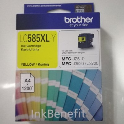 Brother LC585XL Ink Cartridge, Yellow