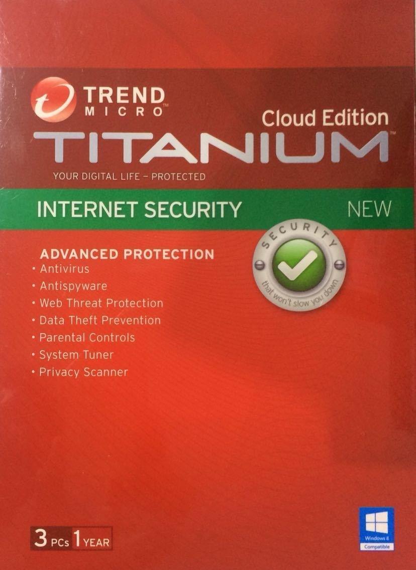 3 User, 1 Year, Trend Micro Titanium Internet Security