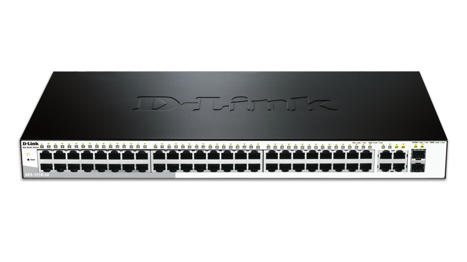 D-Link 48-Ports 10/100/1000Mbps Smart Switches, DES-1210-52