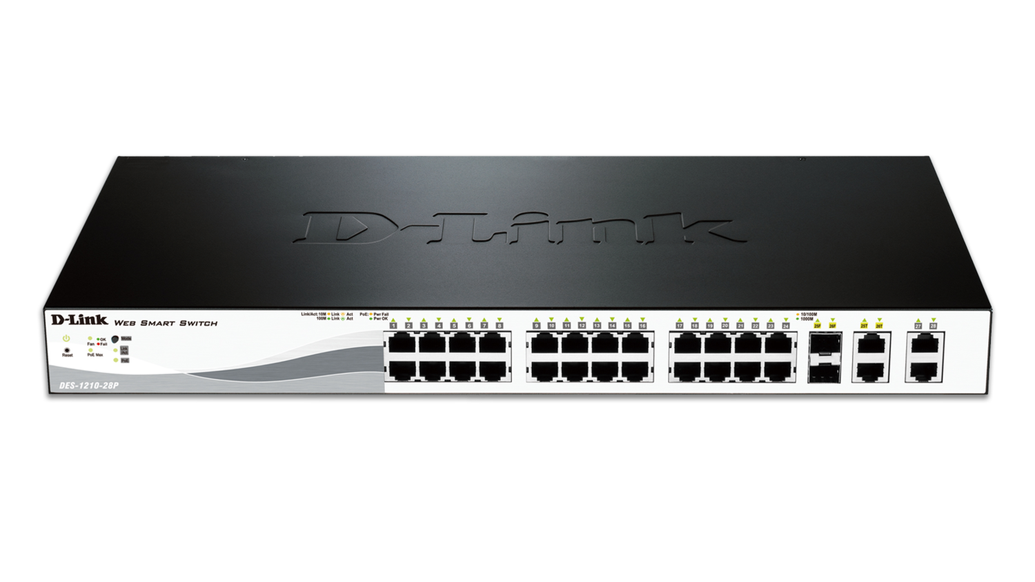 D-Link 24-Ports 10/100/1000Mbps PoE Switches, DES-1210-28P