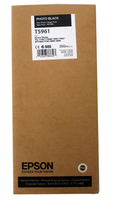Epson T5961 Ink Cartridge, Photo Black, 350ml