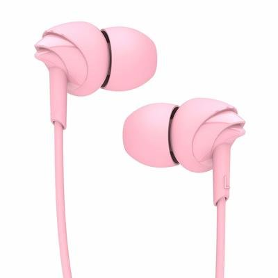 boAt BassHeads 100 Hawk Inspired Earphones with Mic, Taffy Pink