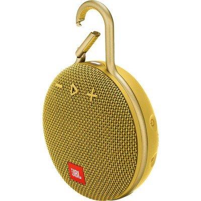 JBL Clip 3 Bluetooth Speaker, Yellow