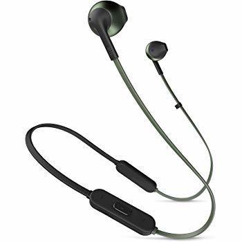 JBL T205BT Pure Bass Wireless Metal Earbud Headphones, Black
