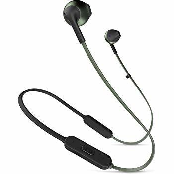 JBL T205BT Pure Bass Wireless Metal Earbud Headphones with Mic, Black