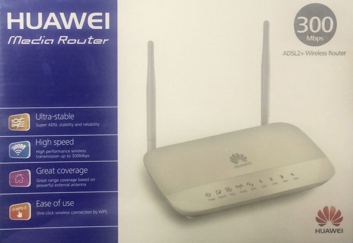 Huawei HG532D Mini Wireless Router, 300Mbps/ADSL2