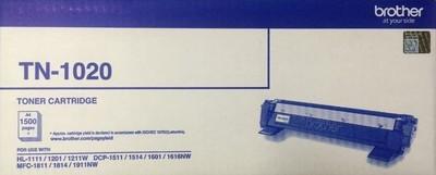 Brother TN-1020 Toner Cartridge, Black